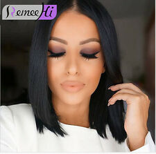 Simple and Stylish Bob Short Wig Silky Straight Full/Front Lace Wig Human Hair