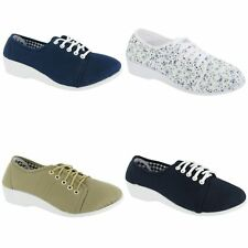 Mirak Bounty Womens / Ladies Lace-up Canvas Summer Casual Shoes /Flats/ Sneakers
