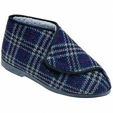 GBS William Great British Touch Fastening Bootee / Mens Slippers / Velcro Mens B