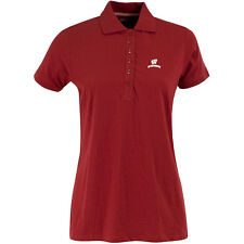 Antigua Women's Wisconsin Badgers Spark 100% Cotton Washed Jersey 6-Button Polo