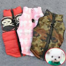Pet Cat Dog Soft Padded Vest Harness Puppy Small Dog Warm Coat Clothes Apparel