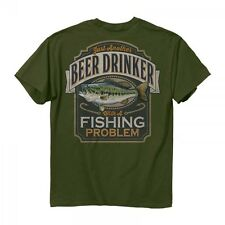 * New Buck Wear 2007 Beer Drinker with a Fishing Problem T Shirt Men's M - 2XL
