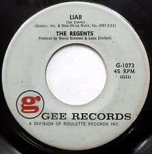 THE REGENTS 45 Don't Be A Fool / Liar DOO WOP e9367