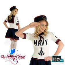 LADIES SEXY NAVY PATROL GIRL COSTUME Adult Sailor Fancy Dress Outfit 2380