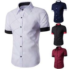New Fashion Mens Slim Fit Stylish Shirt Short Sleeve Casual T-shirts Tee