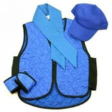 Polar Evaporative Cooling Vest Kit with Skull Cap Blue , Size Small
