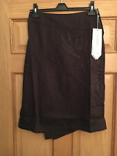 MAHARISHI WOMENS ASYM KICK PLEAT SKIRT WITH OUTLINE DRAGON EMBROIDERY SIZE 6!!!