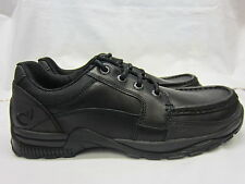 Boys Startrite Rhino Lace Up School Shoes In Black Leather 'Dylan' H Width Fit
