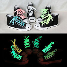 1Pair Fluorescent Shoelace Sport Sneaker Boots Luminous Shoe Laces Strings Cool