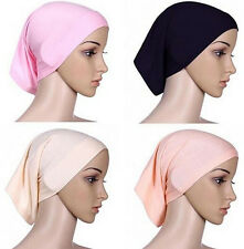 Hijab Muslim Women Head Scarf Cotton Headwrap Cover Islamic Bonnet Underscarf