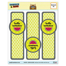 Set of 3 Glossy Laminated Bookmarks - Summer Party Celebration BBQ