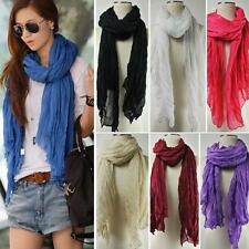 Fashion Women Girl Candy Color Scarf Long Crinkle Wrap Shawl Stole Style