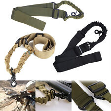 Adjustable Tactical Single Point Sling Bungee Rifle Gun Airsoft Sling Strap Hook