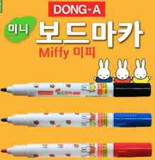 Dong-A Mini Miffy White Board Marker for Children Fine Writing 12Pcs Korean