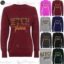 Womans Oversized Jumper Ladies Fleece Knit Baggy Pullover T Shirt Sweatshirt Top