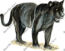 Black Panther Sticker Decal Hunt Fish Big Cat Nature Wildlife Exclusive Painting