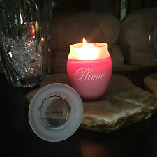 Hand Poured Soy Jar Candle   HOME - A house is made of wood and stone, but only