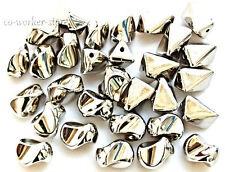50 10pcs baroque dull silver plated CCB jewelry connetors spacer beads USA EUB
