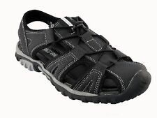 Franco Vanucci mens black w/white stitching athletic outdoor sandals