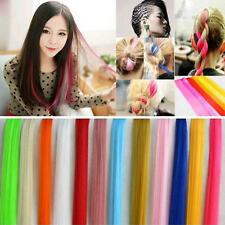 Synthetic Piece Hair Extensions Women Multi Color Chic Clip Long Straight