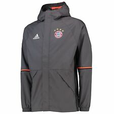 adidas Mens Gents Football Soccer Bayern Munich Training Rain Jacket - Grey