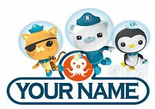 IRON ON TRANSFER OR STICKER - OCTONAUTS PERSONALISED WITH YOUR NAME