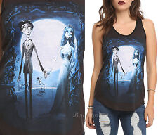 Tim Burton Corpse Bride Movie Poster Emily Victor Tank Top Tee Shirt JRS XS NEW