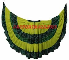 YellowGreen Tribal Fusion Belly Dance Gypsy 25 Yard Skirt Jaipur JUPE Tribal ATS