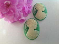 Cameo Resin Oval 40x30mm Beautiful lady pack of 2 CRAFT DESIGN Post Free