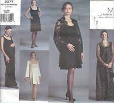 Vogue 2377 Misses' Maternity Coat and Dress 6, 8, 10   Sewing Pattern