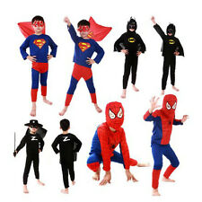 Superhero Kid Children Halloween Costume Cosplay Party S-L Spiderman Batman