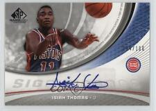 2005 SP Game Used Edition SIGnificance Autographed #SIG-IT Isiah Thomas Auto 9c6