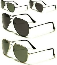 NEW SUNGLASSES BLACK POLARIZED UV400 AVIATOR MENS LADIES VINTAGE RETRO DESIGNER