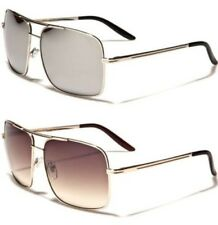 NEW SUNGLASSES BLACK MIRRORED LARGE AVIATOR MENS LADIES VINTAGE RETRO DESIGNER
