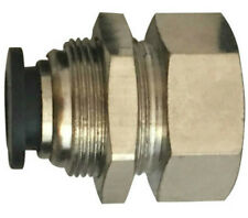 """3/8"""" OD x 1/4"""" Bulkhead Female NPT Push to Connect One Touch Air Fitting Brass"""