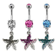 Pave Starfish Belly/Navel Ring