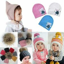 NEW Infant Baby Kids Warm Knit Crochet Hat Boy Girl Toddler Winter Hat Cap Cute