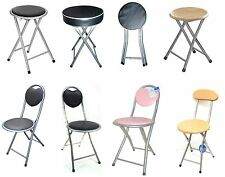 Kids Children Folding Padded Wooden Chair Stool Home Kitchen Foldable Stools
