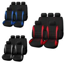Car Seat Covers Auto Steering Wheel Belt Pad Head Rests 9 Part Set
