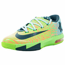 NIKE YOUTH KD VI GS LIGER ELECTRIC GREEN NIGHT FACTOR ATOMIC ORANGE 599477 203