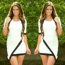 Fashion Women Ladies Special Clipping Bodycon Short Mini Pencil Cocktail Dress