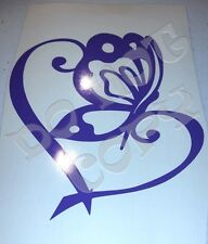 Butterfly Heart Vinyl Decal for car, locker, laptop, etc - Made in USA