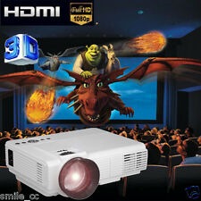 1920*1080i 1000 Lumens LED Projector Home Theater USB TV 3D Business VGA/HDMI