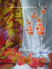 Personalized Wedding Toasting Champagne Glasses Flutes Crystal Bride Groom Gift