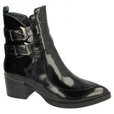 Spot On Womens/Ladies High Heeled Buckled Ankle Boots
