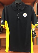 NEW Pittsburgh Steelers Nike Men's Dri-Fit Polo Shirt Stitched Logo Size Medium