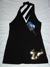 Chicka-D Women's University of South Florida USF Bulls Halter Top NWT Bling