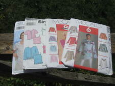 Misses tops, tunics, pullover, shirt. McCalls & Simplicity easy patterns.