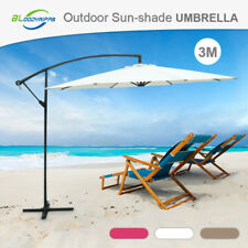 Presale New 3m Patio Garden Outdoor Sun Shade Cantilever Umbrella UV Protection