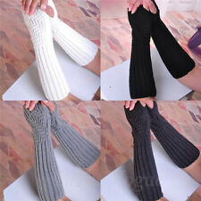 New Gloves Women Girls Arm Warmer Long Fingerless knit Mitten Winter Gloves 28